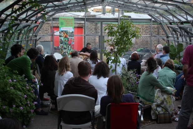 Blues and song at the greenhouses
