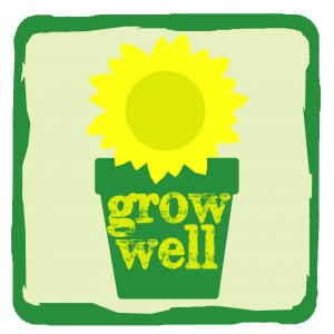 Grow Well sunflower logo
