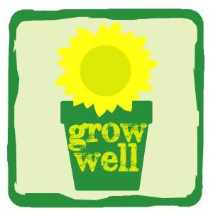 Grow Well sunflower logo