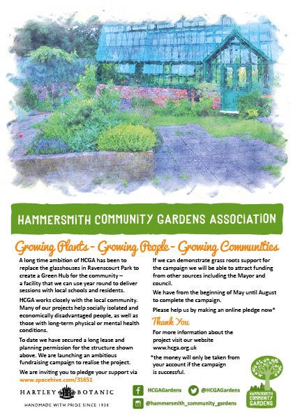 Ravenscourt Glasshouses | Hammersmith Community Garden